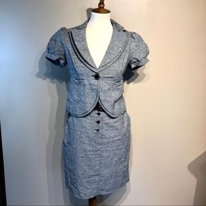 My Michelle Gray Blazer And Skirt Size 5 Small
